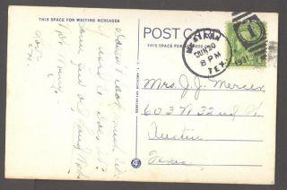 1931 Postcard Main Street Scene McAllen TX