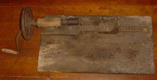 Screw Post Drill Cast Iron Tool Medina A L Swett N Y Steampunk