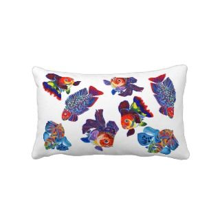 Tropical fish design decorative throw pillow