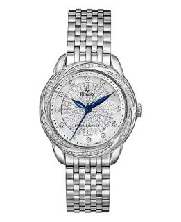 Bulova Watch, Womens Precisionist Diamond (3/4 ct. t.w.) Stainless