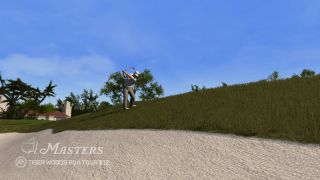 Zack Johnson narrowly avoiding a sand trap in Tiger Woods PGA Tour 12