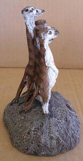 1988 Aus Ben Studios Bronze Meerkats Figurine Charles Earnhardt