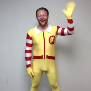 Ronald McDonald Adult Costume Body Suit McDonalds Clown New Halloween