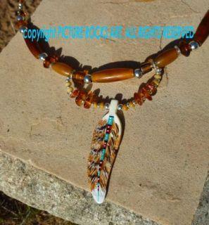 Medicine Hawk Spirit Protection Amulet Necklace Choker