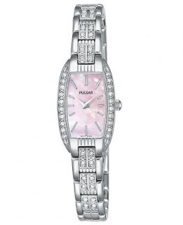 Pulsar Watch, Womens Crystal Accented Stainless Steel Bracelet PEG987