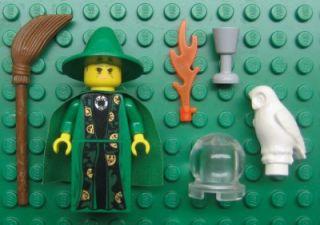 Lego Professor Mcgonagall Green Harry Potter Figure Lot Wizard Witch