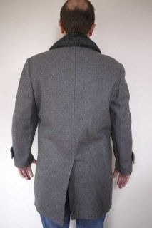 Vintage 1970s McGregor Heavy Wool Faux Fur Lined Over Coat USA Made 38