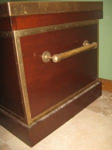 McGuinn Farms Large Wood Brass Trimmed Tack Trunk