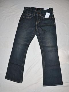 Guess Mens Jeans Rancho Fit Relaxed Bootcut New Dark Wash Jeans Size