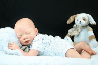 Reborn Doll Joshua by Reva Schick Lifelike Fake OOAK Baby Boy Painted