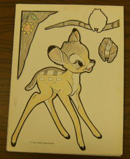 Bambi Disney Plaks 1942 Vintage Walt Nice Colored