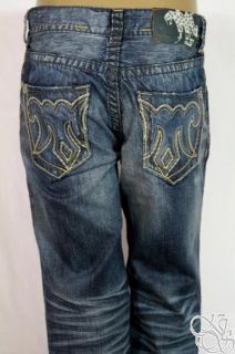 MEK Denim Aldan Boot Cut Dark Blue Jeans Mens Pants New M1ALDAB4T