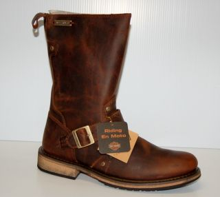 Harley Davidson Jayden Mens Riding Boots D95349 Brown Size 7