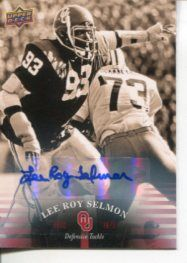 Lee Roy Selmon University Oklahoma Sooners Signed Autograph Auto Upper