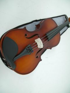Mendini 4 4 MV300 Solid Wood Violin in Satin Finish with Hard Case