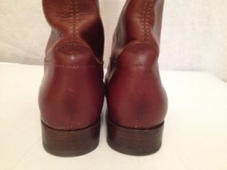 Fabulous Ladies Frye Melissa Button Brown Leather Boots Size 8 1 2 BFD