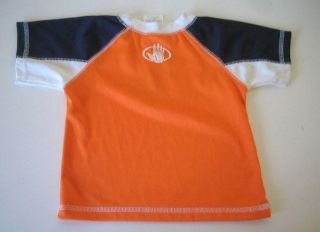 12M 12 M Orange Body Glove Insect Rash Guard Swim Shirt