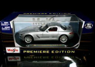Mercedes Benz SLS AMG Maisto Premiere Diecast 1 18 Scale Silver