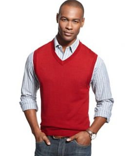 Club Room Big and Tall Vest, Merino Wool Blend Solid Sweater Vest