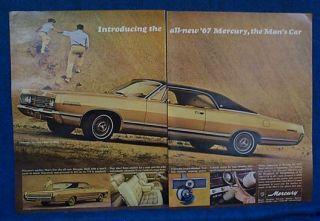 1967 Mercury Marquis 2 Door Hardtop Gold Blk 2 PG Ad