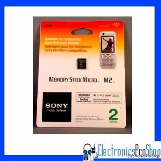 Sony MSA2G 2GB Memory Stick Micro M2 1 Card Pack New