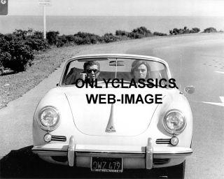 PORSCHE 356 CONVERTIBLE AUTOMOBILE STEVE MCQUEEN  JAQUELINE BISSET