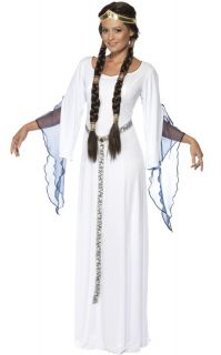 White Medieval Princess Bride Dress Halloween Costume M