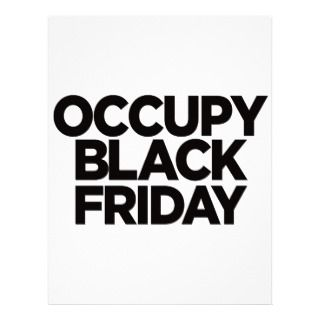 Occupy Black Friday Letterhead Template