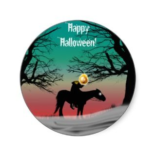Headless Horseman Halloween Stickers