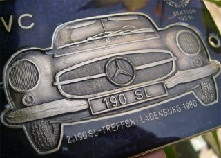 Mercedes Benz 190 SL Club Germany Meeting 1980 Badge