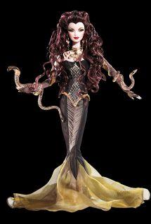 Medusa Gorgeous Greek Goddess Gold Label Fantasy Barbie Doll