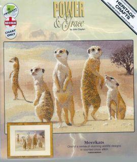 Clayton Counted Cross Stitch Chart Pattern Meerkats 639 Sale