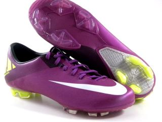 Nike Mercurial Miracle II FG Plum Purple White Soccer Futball Cleats