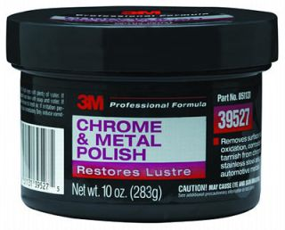3M 39527 Chrome Metal Polish Auto Detail 10 Oz