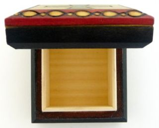Cross Polish Handcrafted Wood Jewelry Keepsake Box New