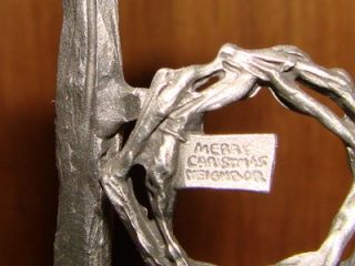 REDUCED Chilmark Pewter Merry Christmas Neighbor Don Polland