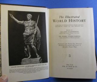 Book Illustrated World History Hammerton Barnes 1935