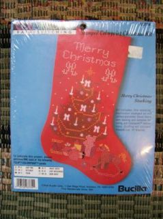 Bucilla Fabric Painting Colorpoint Merry Christmas Stocking Kit