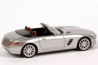 87 Mercedes Benz SLS AMG Roadster R197 Iridium Silber Silver Herpa
