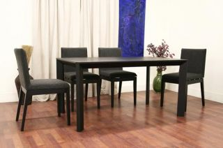 Melora Modern 5 Piece Dining Set Contemporary Black