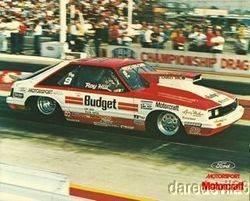 1984 Roy Hill Motorcraft Mercury Capri NHRA Postcard