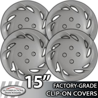 1991 1996 Mercury Tracer 15 Silver Clip on Hubcaps Wheel Covers