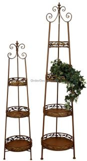 indoor outdoor metal plant stand 3 shelf. Black Bedroom Furniture Sets. Home Design Ideas