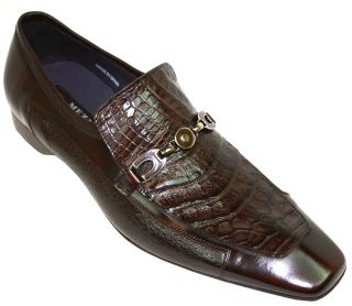 New Mezlan Lloyd Brown Alligator Deer Skin Shoes 10 5