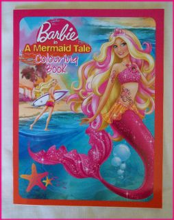 Barbie Mermaid Tale Awesome Colouring in Book Colour in Color Barbies