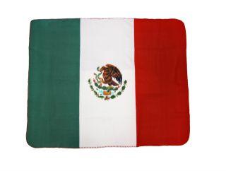 Mexican Flag Fleece Throw Blanket Mexico 60` x 50`