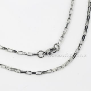 3mm Mens Box Link Stainless Steel Necklace Chain KN16