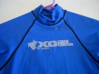 Xcel Blue UV Shield Rash Guard Mens s Swim Shirt Surf