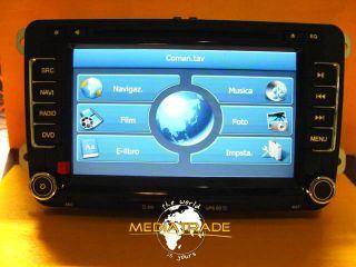 Autoradio Monitor Navigatore GPS DVBT Volkswagen Golf 5 6 Seat Skoda