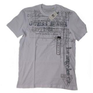 Guess Men T Shirts Hampton Grafic Tee R Neck Short Sleeve Cotton Was $